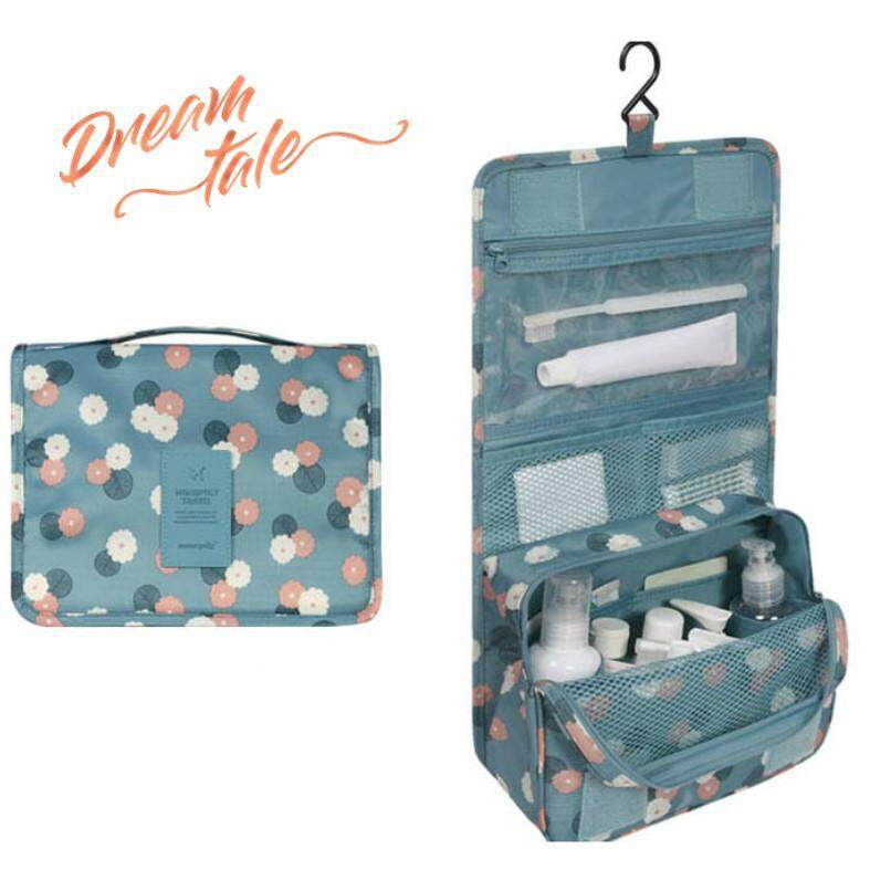7e96f29d90e0 Dreamtale Korea Fashion Travel Hanging Cosmetic Toiletries Extra Large Pouch  (Upgraded version) (Blue