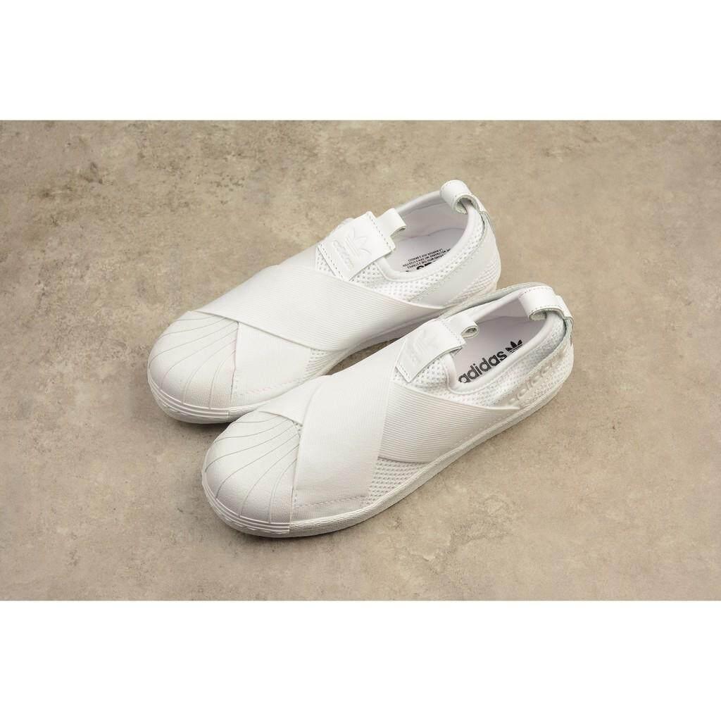 original adidas superstar slip on  all white skateboard shoe for men women 36-44
