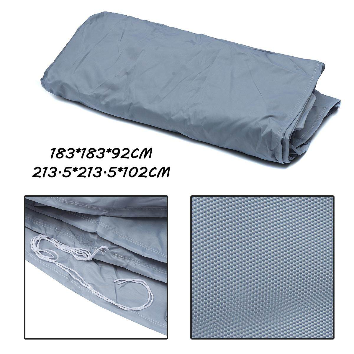 213.5*213.5*102cm Spa Tub Protective Dust Cover With Drawing String By Moonbeam.