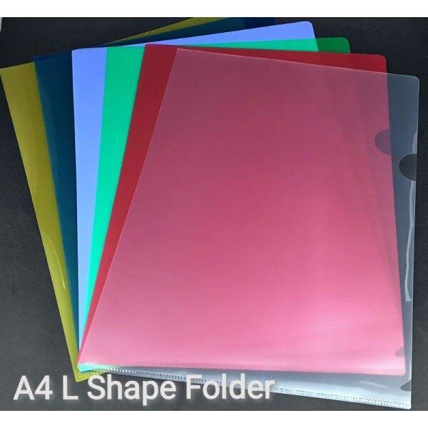 A4 L Shape Folder Transparent Color