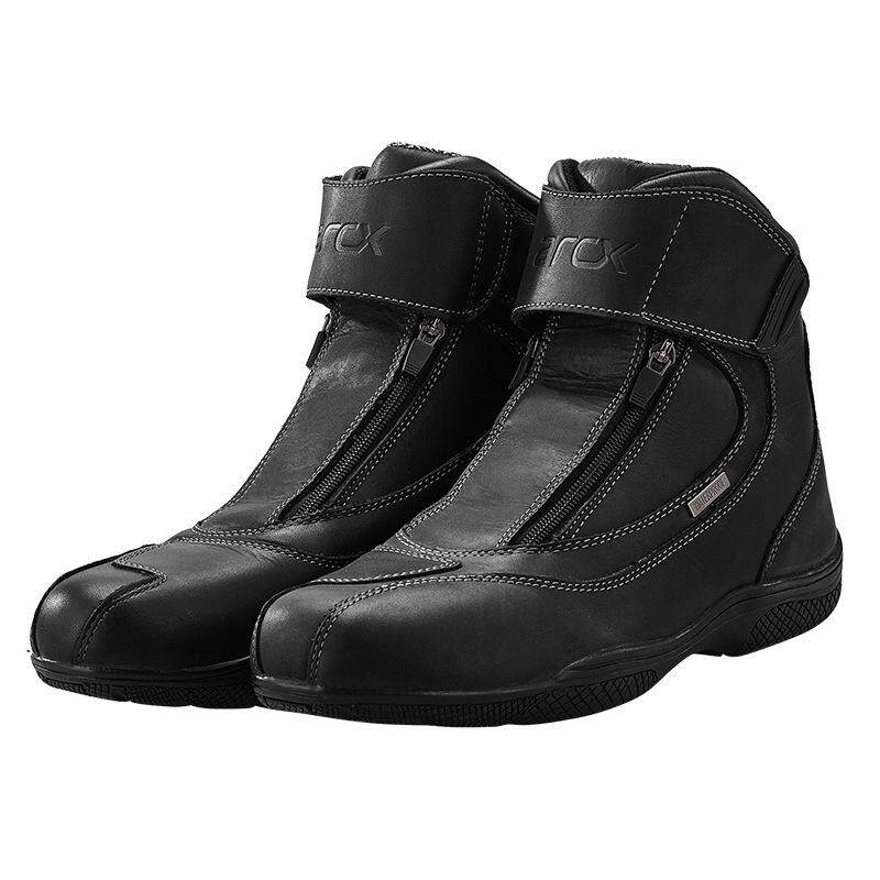 Cowhide motorcycle riding shoes men's four seasons motorcycle shoes racing shoes short boots waterproof shoes