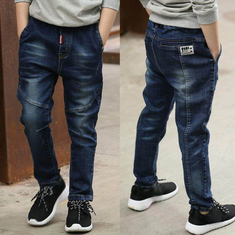 3804a5fe China. IENENS 5-10Y Young Boy Casual Clothing Trousers Boys Slim Straight Jeans  Kids Baby Children