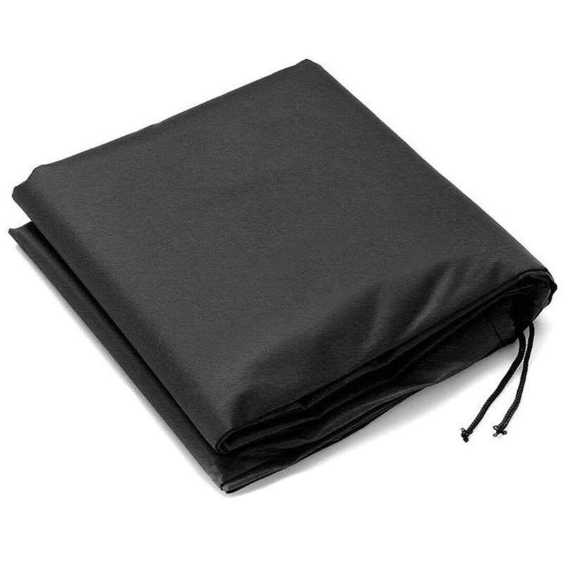 Black Waterproof Outdoor Garden Table Tennis Table Rain Cover Blanket 210D Oxford Cloth Rain Cover Outdoor Garden Cover Sunshade Accessories