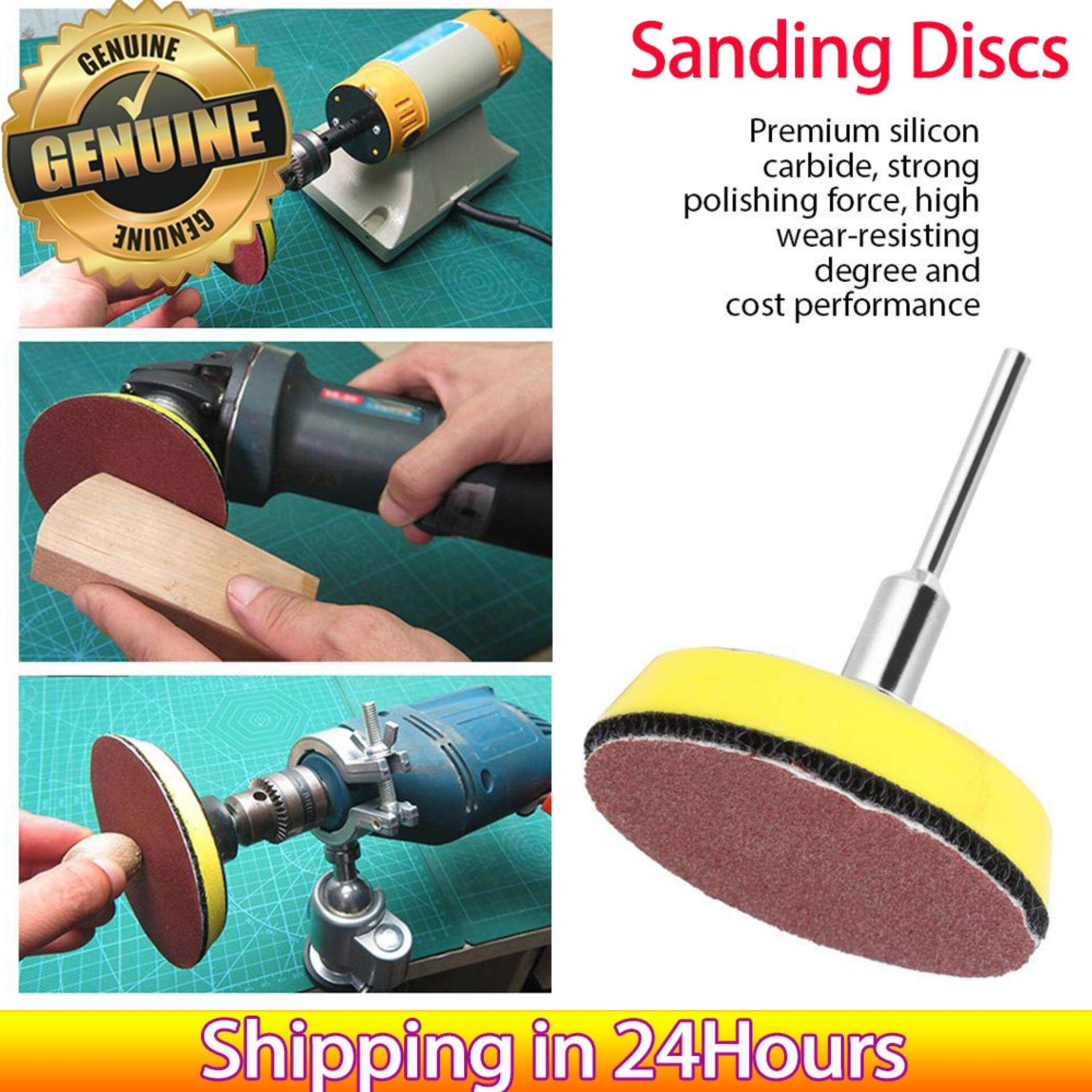 【time-Limited Promotions】60pcs 2-Inch Round Shape Red Sanding Discs 100 240 600 800 1000 2000 Grit Sand Papers By Lfinger.