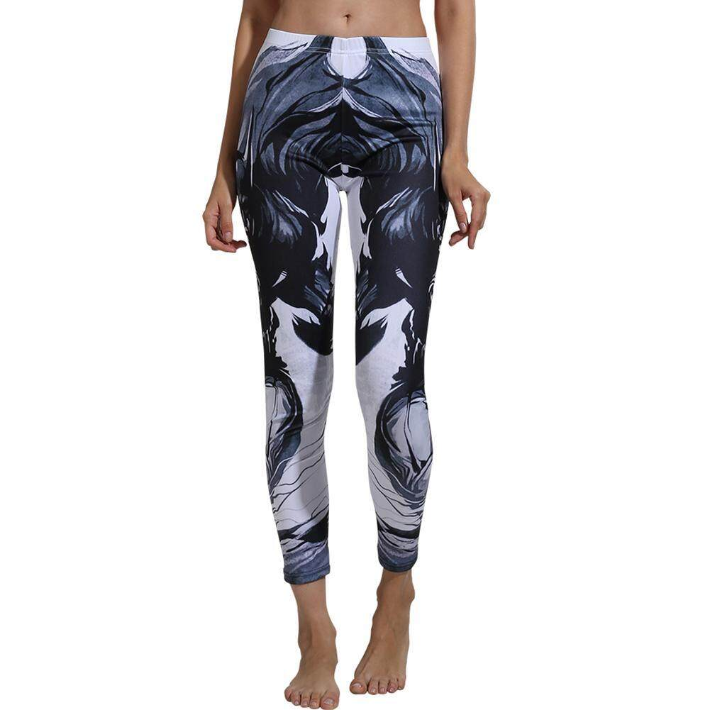 e4f7fbacd1f8f Highfly365 Sexy Women Sports Yoga Pants 3D Floral Print High Waist Stretch  Leggings