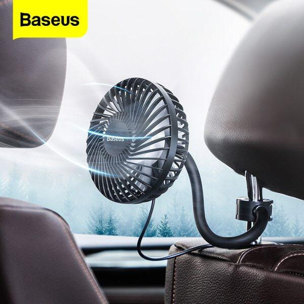 Baseus Car Fan Cooler 360 Degree Rotating Silent Car Air Vent / Backseat Mini USB Fan Cooling- 3 Speed Adjustable