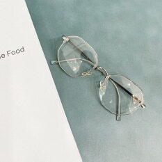 Ưu đãi đặc biệt kính cận thị nữ có độ chống ánh sáng xanh bức xạ siêu nhẹ khung kính đa giác mỏng HỌC SINH-100 ° ~-600 ° Khung kính