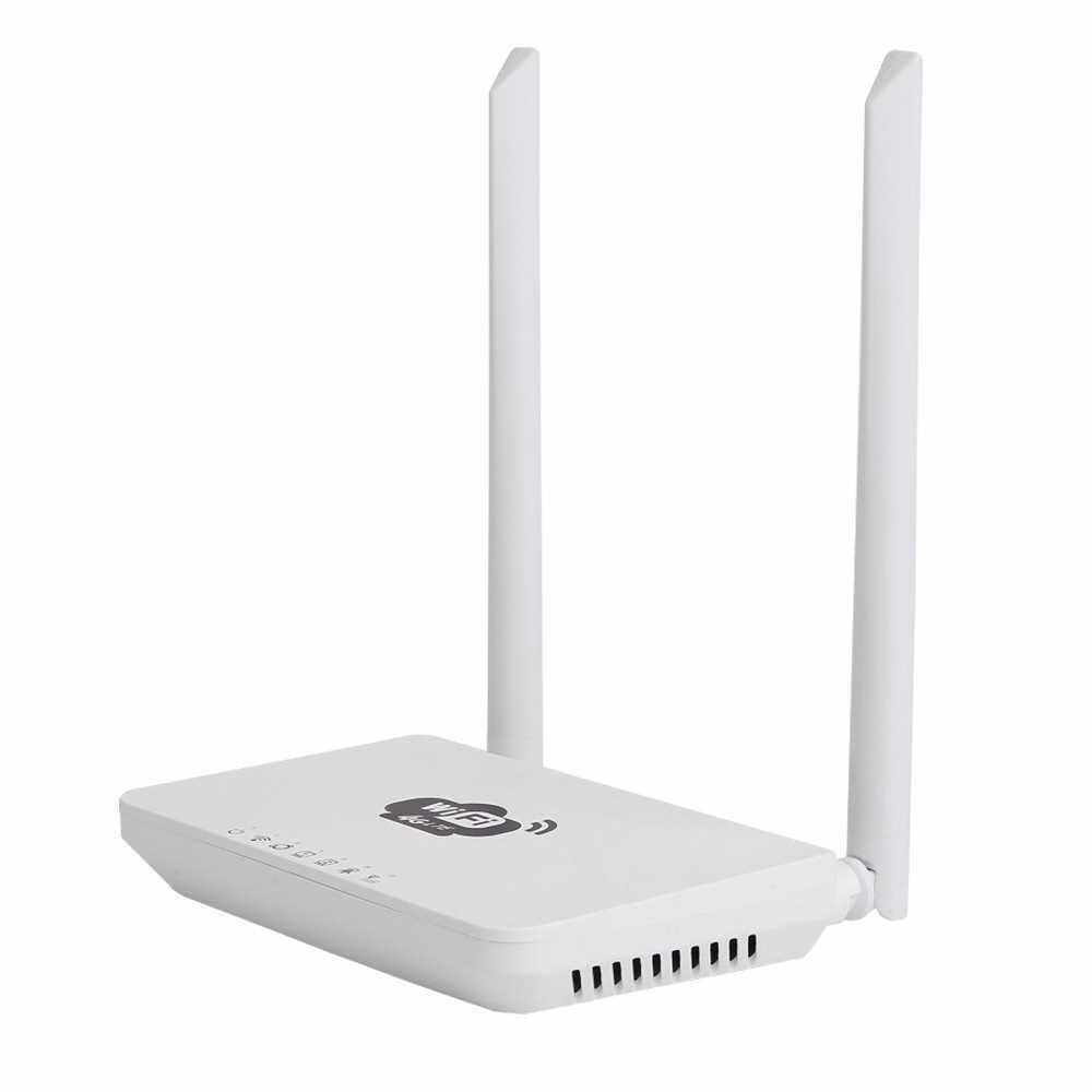 4G Wireless Wifi Router LTE 300Mbps Mobile MiFi Portable Hotspot with SIM Card Slot US Plug(White) (White2)