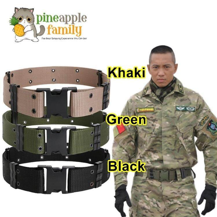 Men/'s Outdoor Sports Military Tactical Nylon Waistband Canvas Dazzling Web Belt