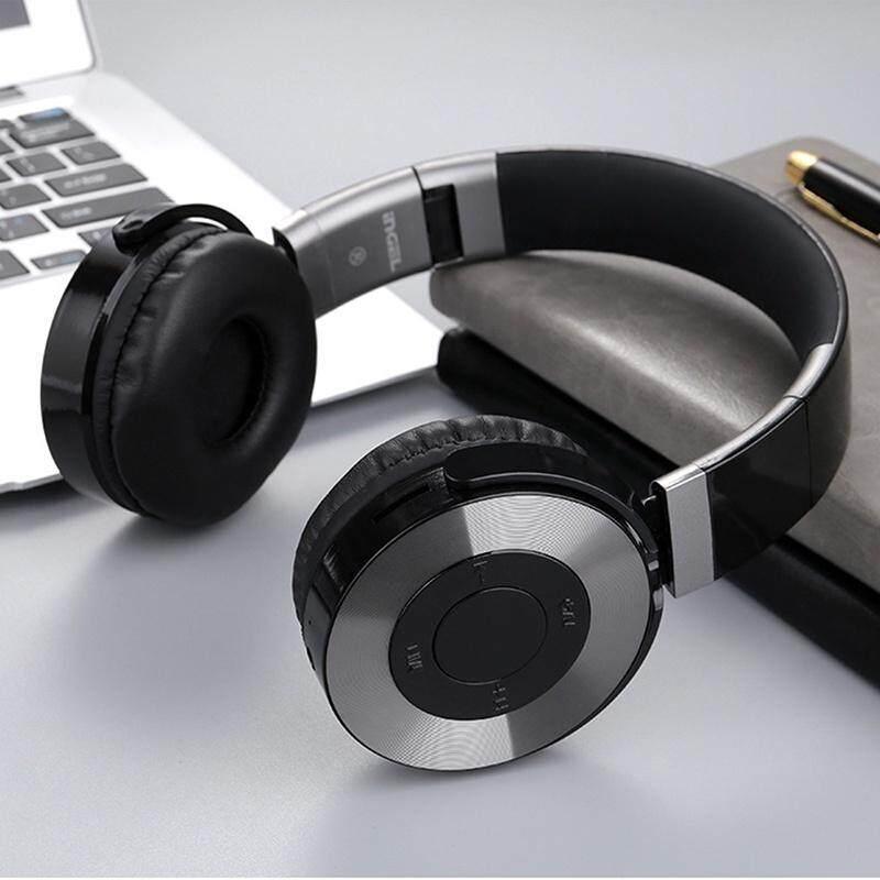 JBKJ Head-mounted Folding Wireless Bluetooth Headset Stereo Sports Wireless Bluetooth Headphones HIFI Sound HD Call Headphone with Microphone Support TF Card FM Radio