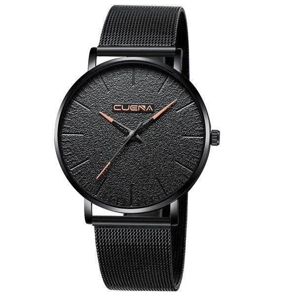 CUENA Casual Fashion luxury gold silver black Watches Mens Sport Wrist Watch Malaysia
