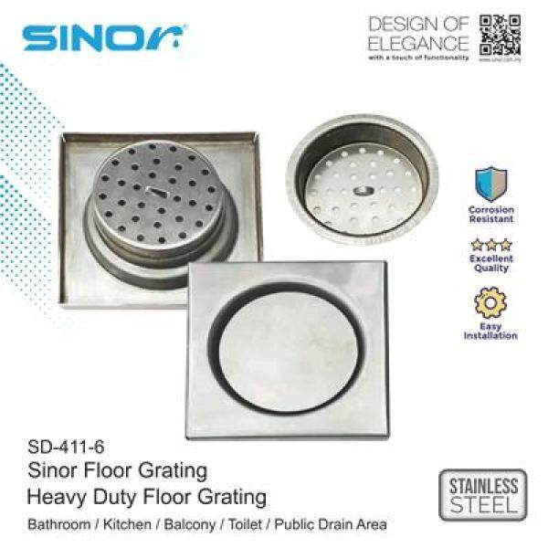 Sinor SD-411-6 Stainless Steel Heavy Duty Floor Grating