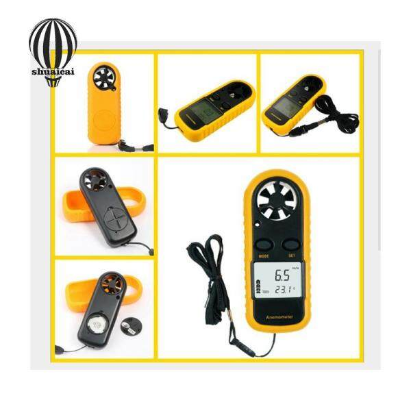 SC GM816 Wind Speed Measuring Tool Mini Digital Anemometer Thermometer Air Velocity Temperature with Backlight Cardboard