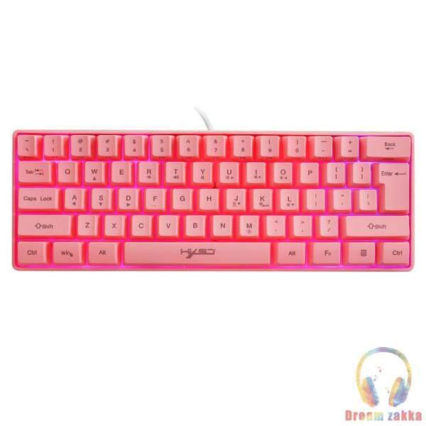 HXSJ V700 61 Keys RGB Backlight Multimedia USB Wired PC Gaming Keyboard Singapore