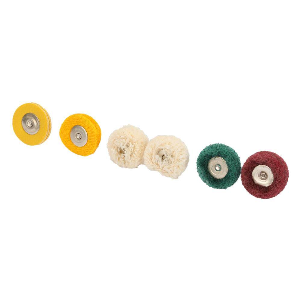 6PCS DIY Supply Metalworking Polishing Wheel Buffing Pad Brush Fiber For Electric Grinding Rotary Drill Bit Polisher Tool Abrasive