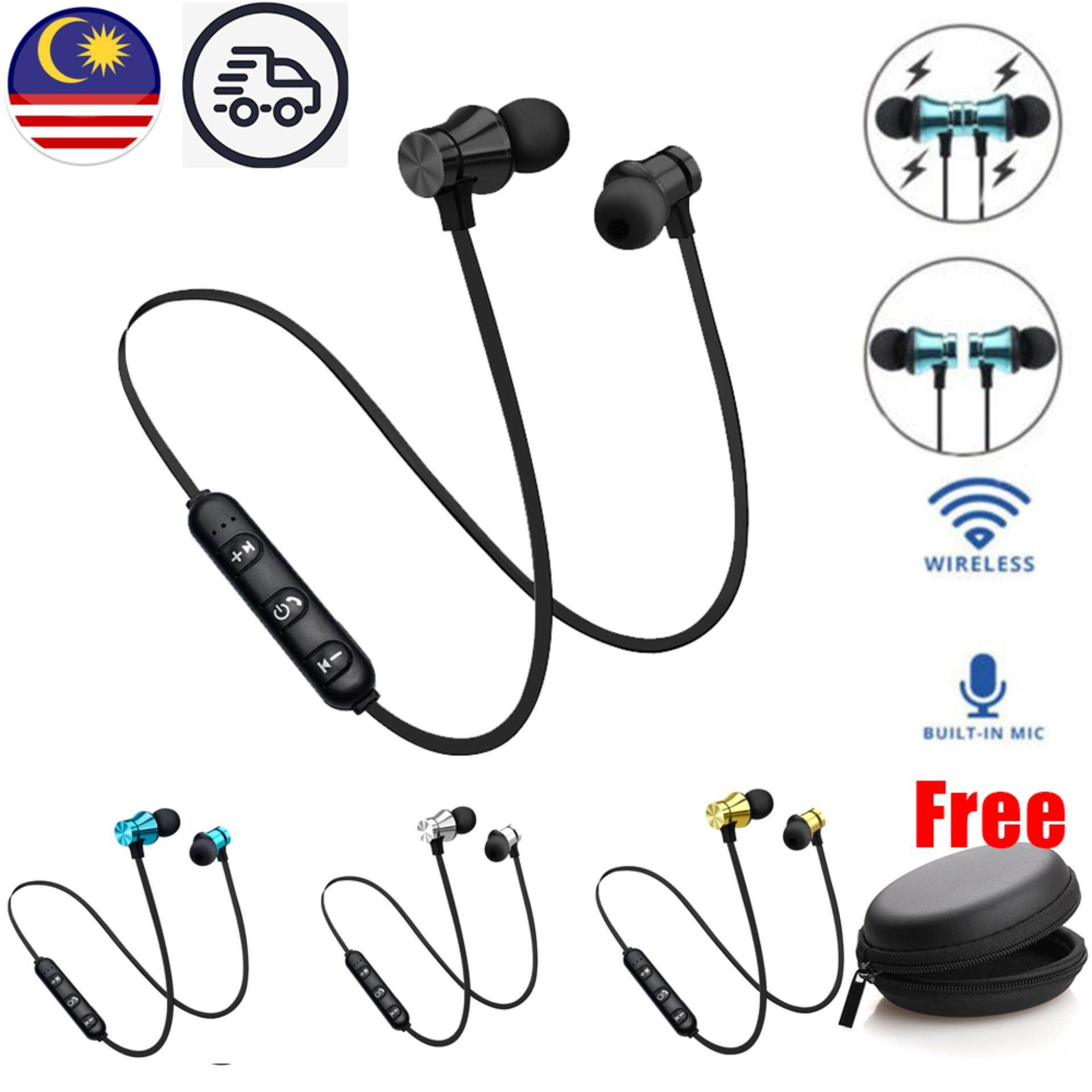bec56160f94 Colorful Bluetooth 4.2 Wireless Earphone Magnetic Wireless Sports Headset  Bass Music With Mic