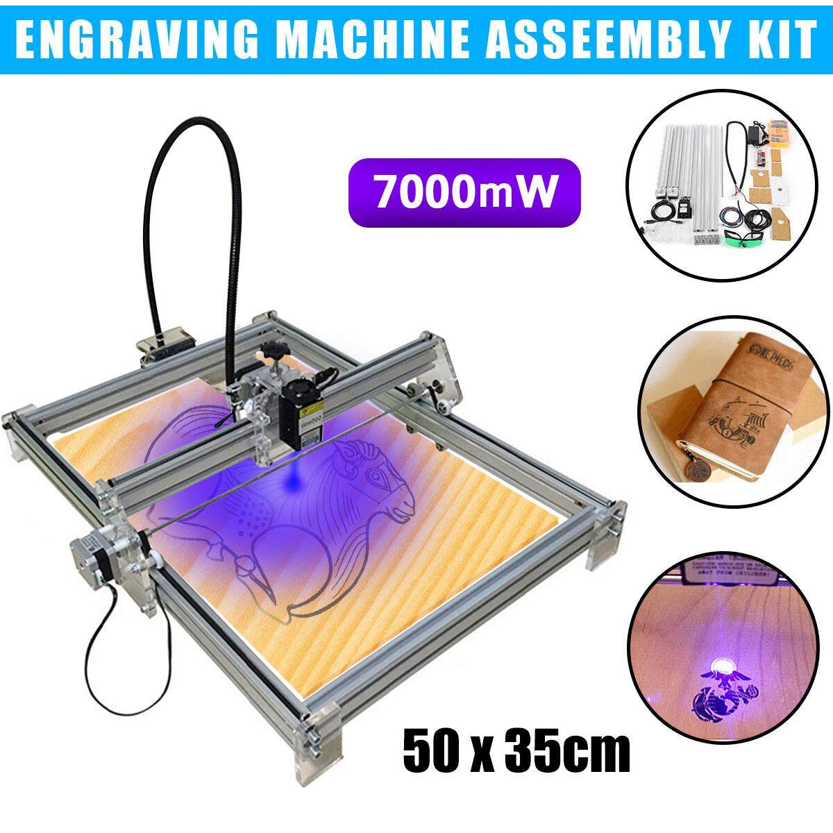 【Free Shipping + Flash Deal】7000mW 35x50cm USB CNC Laser Engraver Metal Marking Wood Cutter Machine DIY Kit