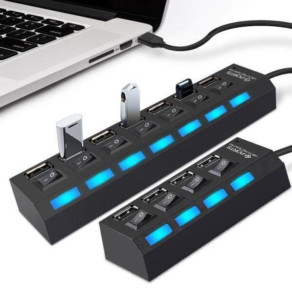 USB Hub 2.0 Multi USB Port 4/7 Ports Hub USB High Speed Hab With on/off Switch USB Splitter For PC Computer Accessories