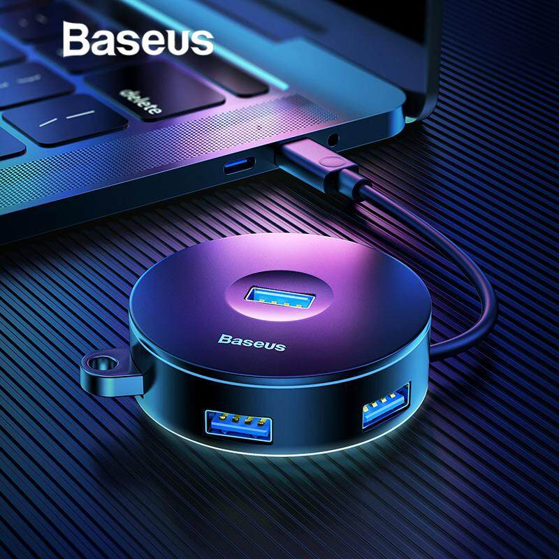Baseus USB HUB 4 Ports Type C or USB  to USB3.0+USB2.0 for MacBook Micro USB HUB Laptop Mobile Hard Disk for PC Accessories