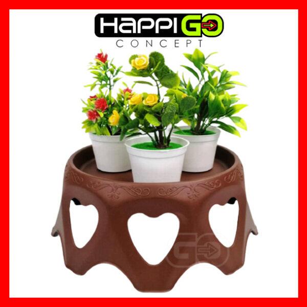 Happi GO Modern Garden Indoor Outdoor Flower Pot Stand (Love Shape)