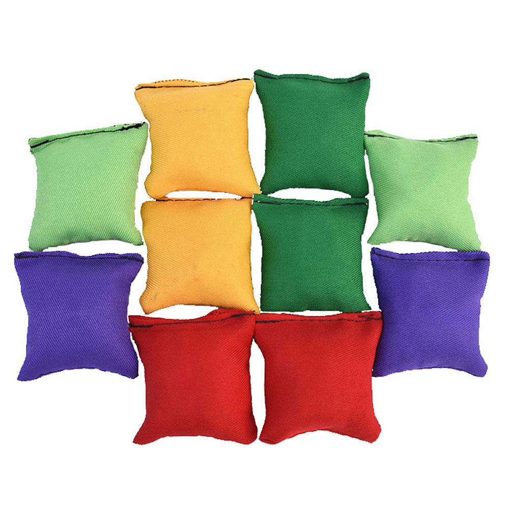 [Ready Stock][Freeshipping if buy any 3 Items]10 Pcs Toy Sandbags Bean Bags Kids Toss Game Toy Throwing Sandbag Ball