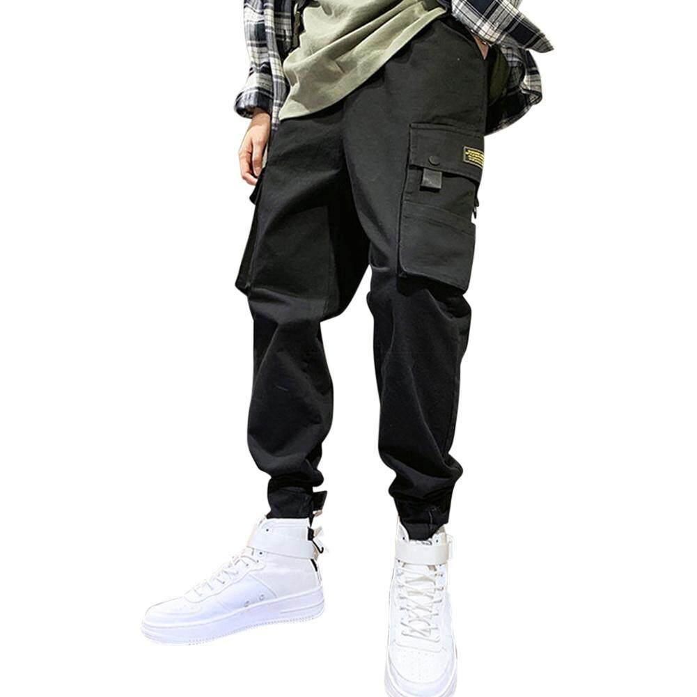 SYD # Hip-Hop กางเกงหลายกระเป๋าดินสอสไตล์เกาหลีกางเกงสบายๆกางเกงหลวมๆแฟชั่นเสื้อผ้า 22