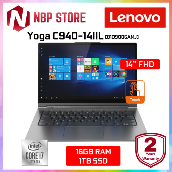 Lenovo Yoga C940-14IIL 81Q9006AMJ 14 FHD Touch Laptop Iron Grey ( i7-1065G7, 16GB, 1TB SSD, Intel, W10 ) Malaysia