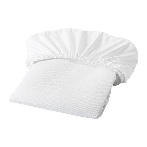 Lenast Mattress Protector, White, Size 60x120 Cm By Home Planner.
