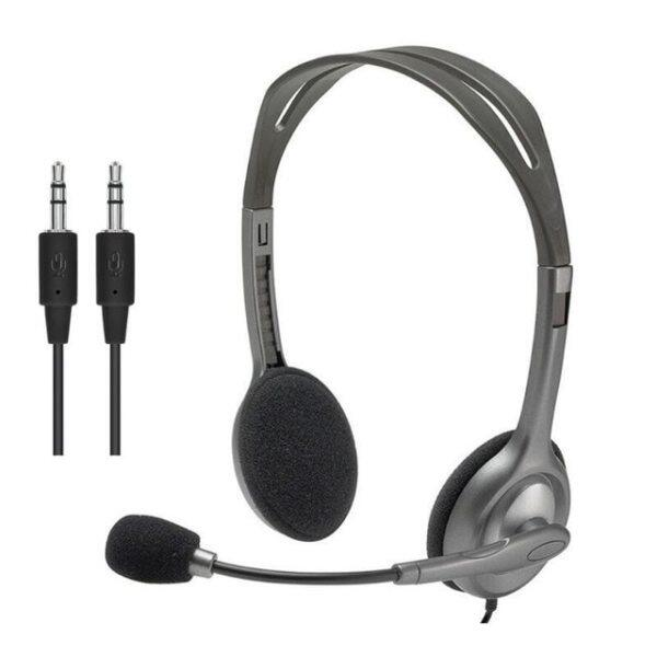Logitech H110/H111 Stereo Headset with Microphone 3.5mm Wired Headphones Headsets for gamer gaming music calling