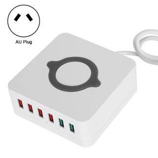 Bộ Chuyển Đổi Sạc Nhanh QC3.0 Trạm USB Không Dây Thông Minh 6 Cổng, Quy Định Của Úc 100-240V thumbnail