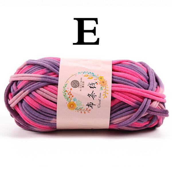 exix 100g/Pcs Rugs Woven Thread Cotton Cloth Hand Knitting Yarn Wool Yarn Basket Bag Braided Rope DIY