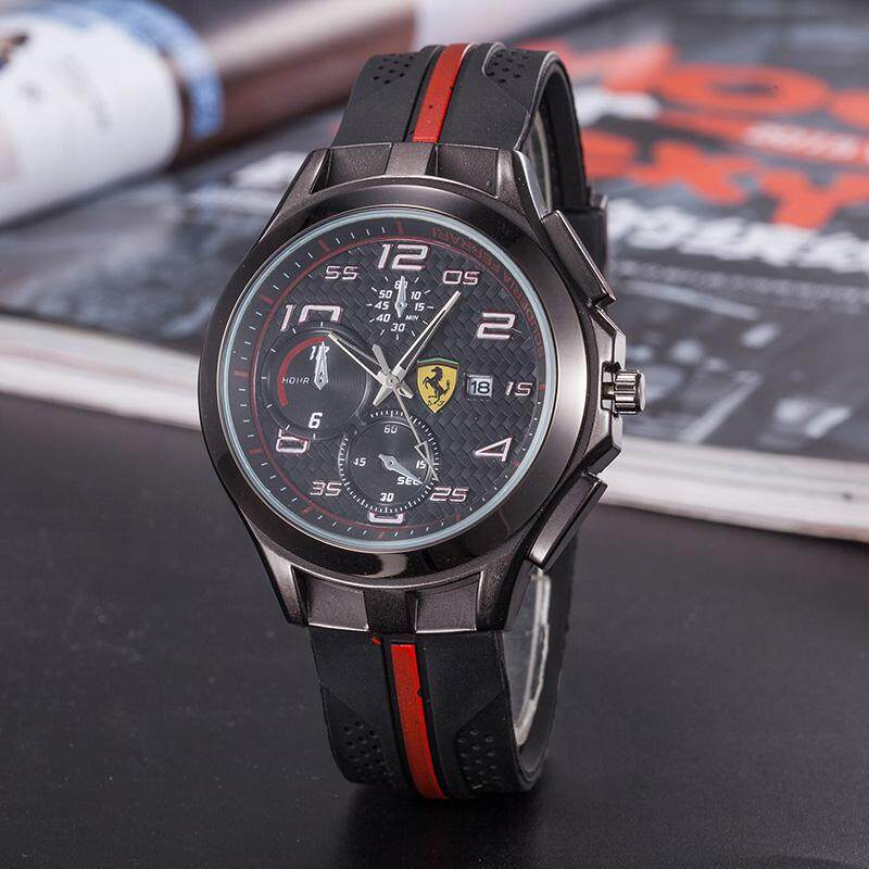 Original_Ferrari Watch Luxury Brand Business Exquisite Watch Classic Quartz Watch for Men Casual Fashion Watch Commuter Waterproof Watch Malaysia