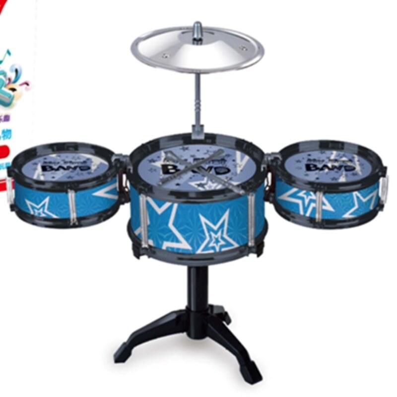[Trong Kho Giáng Sinh] Big Drum Cho Trẻ Em Người Mới Bắt Đầu Jazz Trống Đồ Chơi Nhạc Cụ 1-3-6 Năm Tuổi 9 Cậu Bé Bé Chơi Trống Quà Tặng Trống Kit