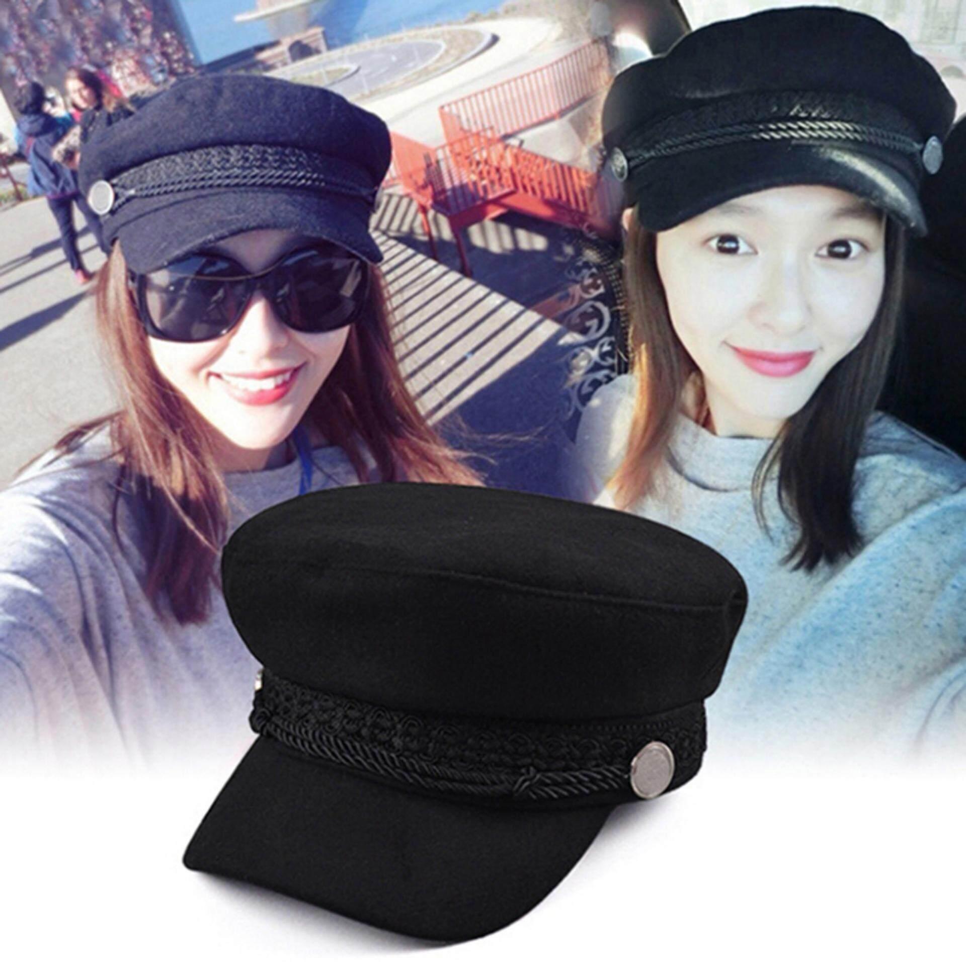 Lemary Ladies Womens Girls Wool Blend Baker Boy Peaked Cap Newsboy Hat  Beret Fashion 225286b6f9
