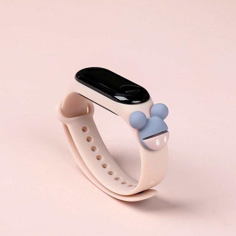 Nơi bán Đồng hồ điện tử Sinh viên Phong cách Ins Đồng hồ nam nữ thời trang màu hồng phong cách Hàn Quốc đa năng chống nước Đồng hồ LED hoạt hình phong cách Đại Học