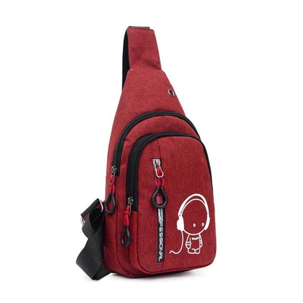 OEM Mens Crossbody Bag Chest Sling Bag For Women Waterproof Small Travel Bag