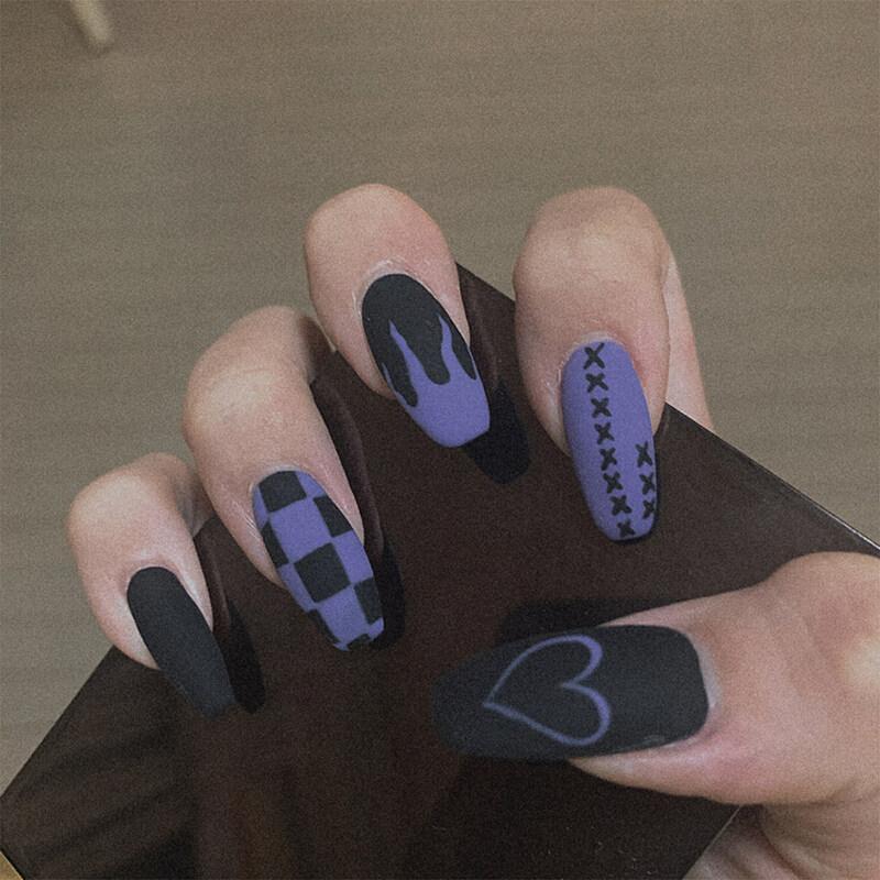Móng giả BEAUTYBIGBANG in họa tiết độc đáo cá tính thích hợp trang trí móng tay - INTL giá rẻ