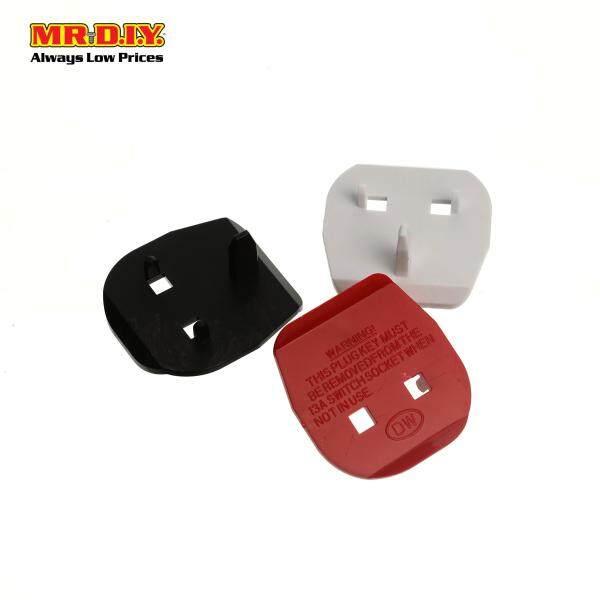 MR.DIY Multi-Colour Plastic Safety Plug Key 2 Pin Converter (3pcs)