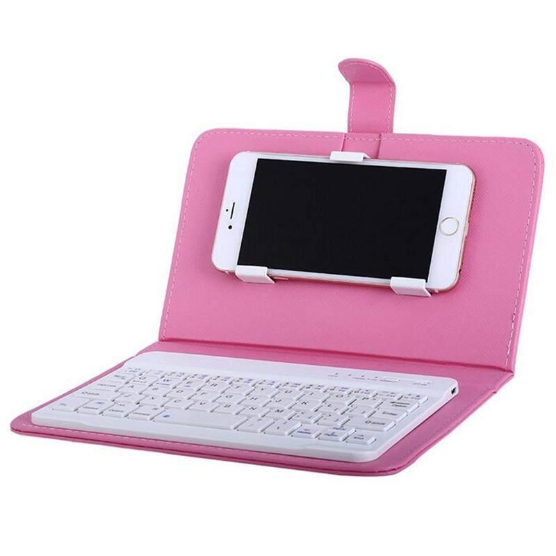Fy Portable PU Kulit Pembungkus Keyboard Nirkabel untuk iPhone dengan Keyboard Bluetooth untuk 4.2-6.8 Inci Ponsel Spesifikasi: Keyboard Bluetooth + Casing Kulit