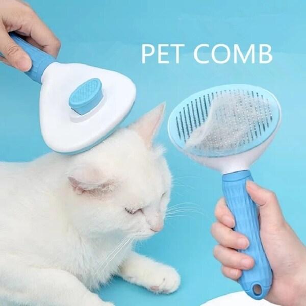 Lược Chải Lông Chó Mèo Thú Cưng Tông Đơ Loại Bỏ Lông Thú Cưng Mát Xa Tạo Kiểu
