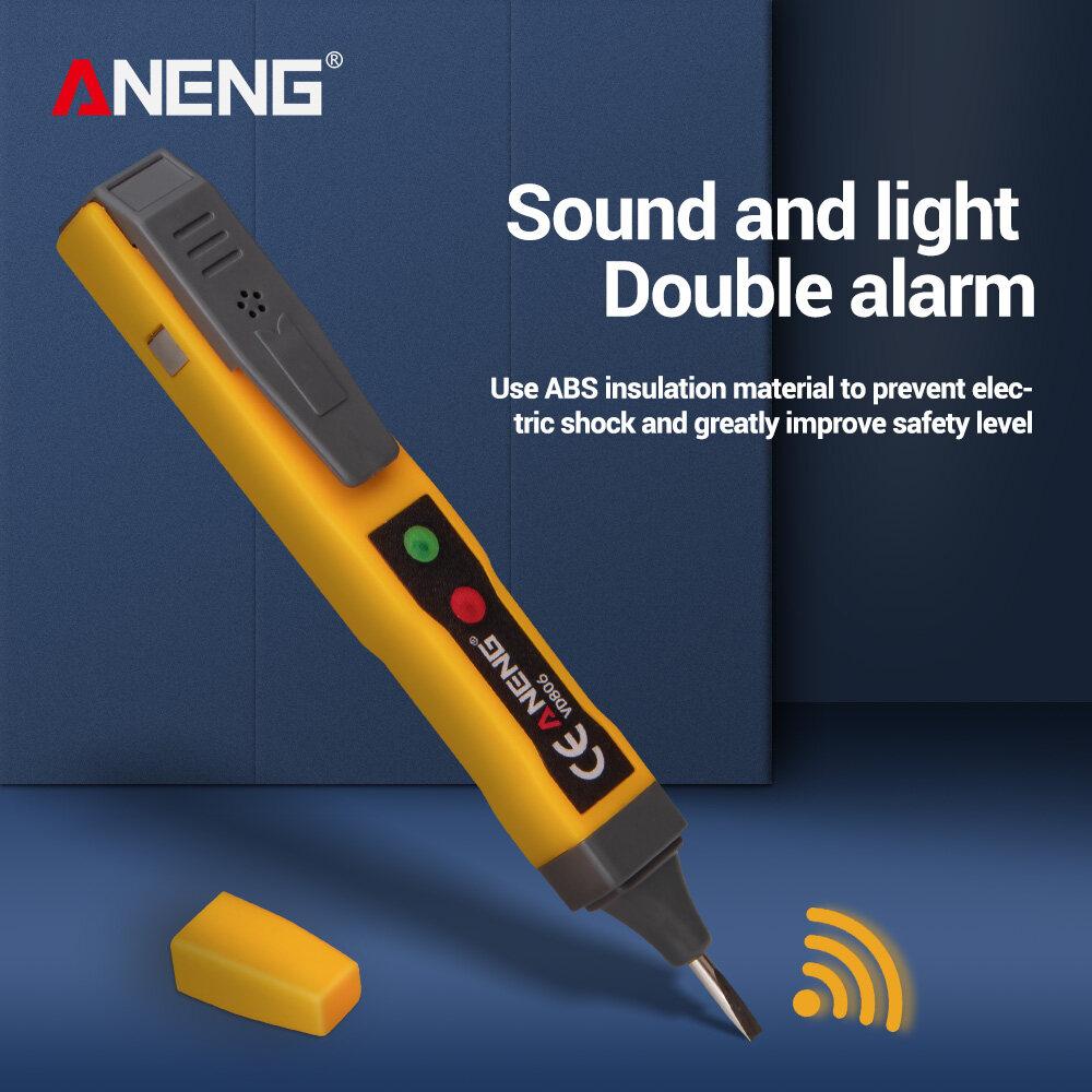 AC Voltage Detector Pen Non-contact Inductive AC//DC Voltage Tester w Sound