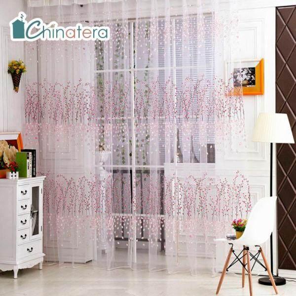 [Chinatera] Rèm Cửa Mùa Đông 100X200Cm Rèm Cửa Vải Tuyn Điều Trị Cửa Sổ Diềm Xếp Nếp Vải Tuyn