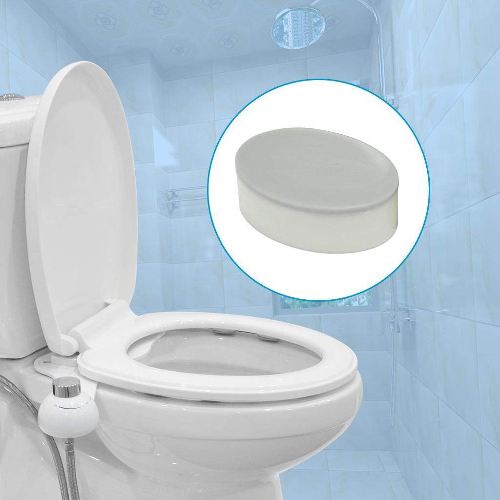 6pcs Toilet Seat Bumpers Cover Lifter Kit with Strong Self Adhesive Solution for the Gap after Installed the Bidet Toilet Seat Attachment