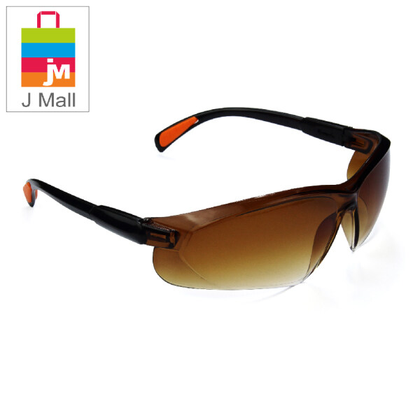 J MALL New Safety Eye Protection PPE Glasses Goggle Spec (208-1) Clear / (208-2) Black / (208-3) Reflective Clear / (208-4) Rainbow / (208-5) Reflective Silver / Brown (208-6) / (208-7) Dark Grey