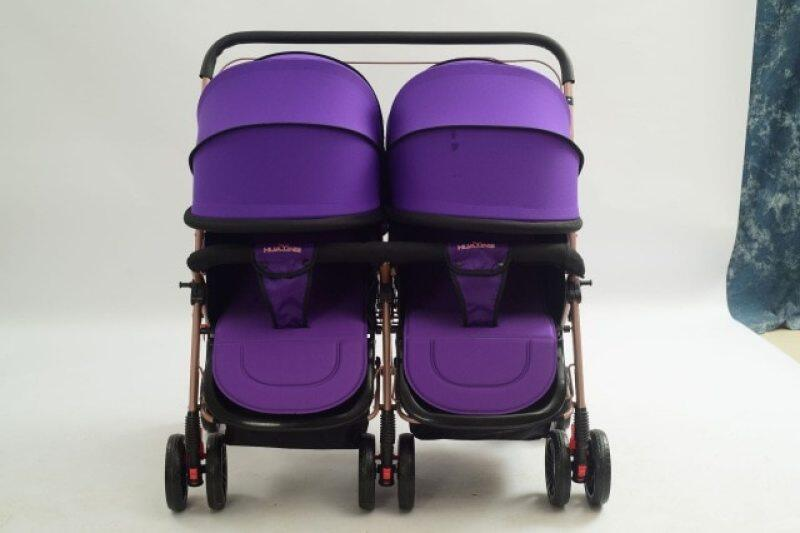Newborn Twin Baby Stroller Double Seat Carts Can Sit Reclining Folding  Twin Pram Travel System Two-way Light Carriage Singapore