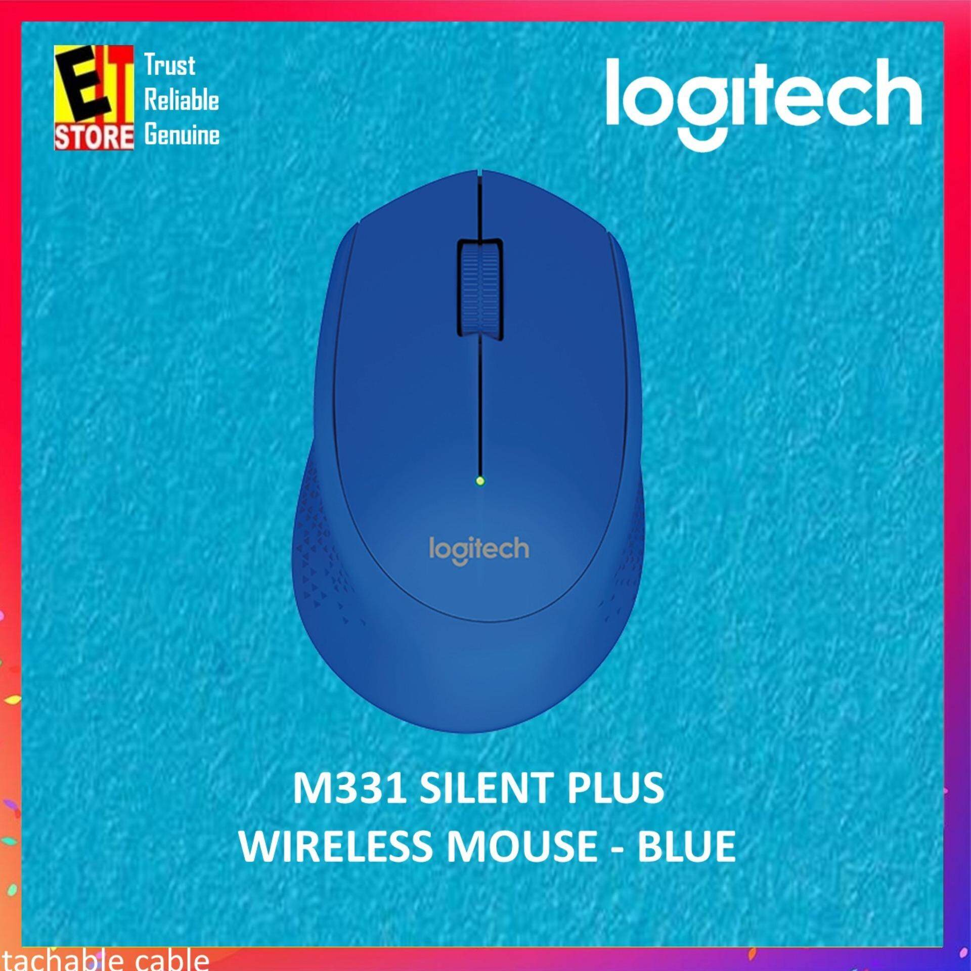 Logitech M331 Silent Plus Wireless Mouse - Blue Malaysia