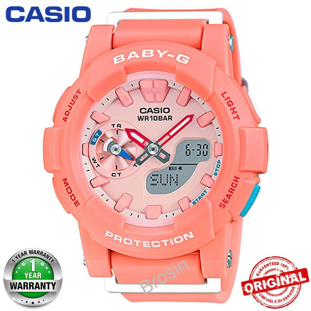 (Ready Stock) Baby-G BGA185 Duo W/Time 100M Water Resistant Shockproof and Waterproof World Time Girls Sports Watch LED Light Sport Wrist Watches for Women with 1 Year Warranty BGA-185-4A Malaysia