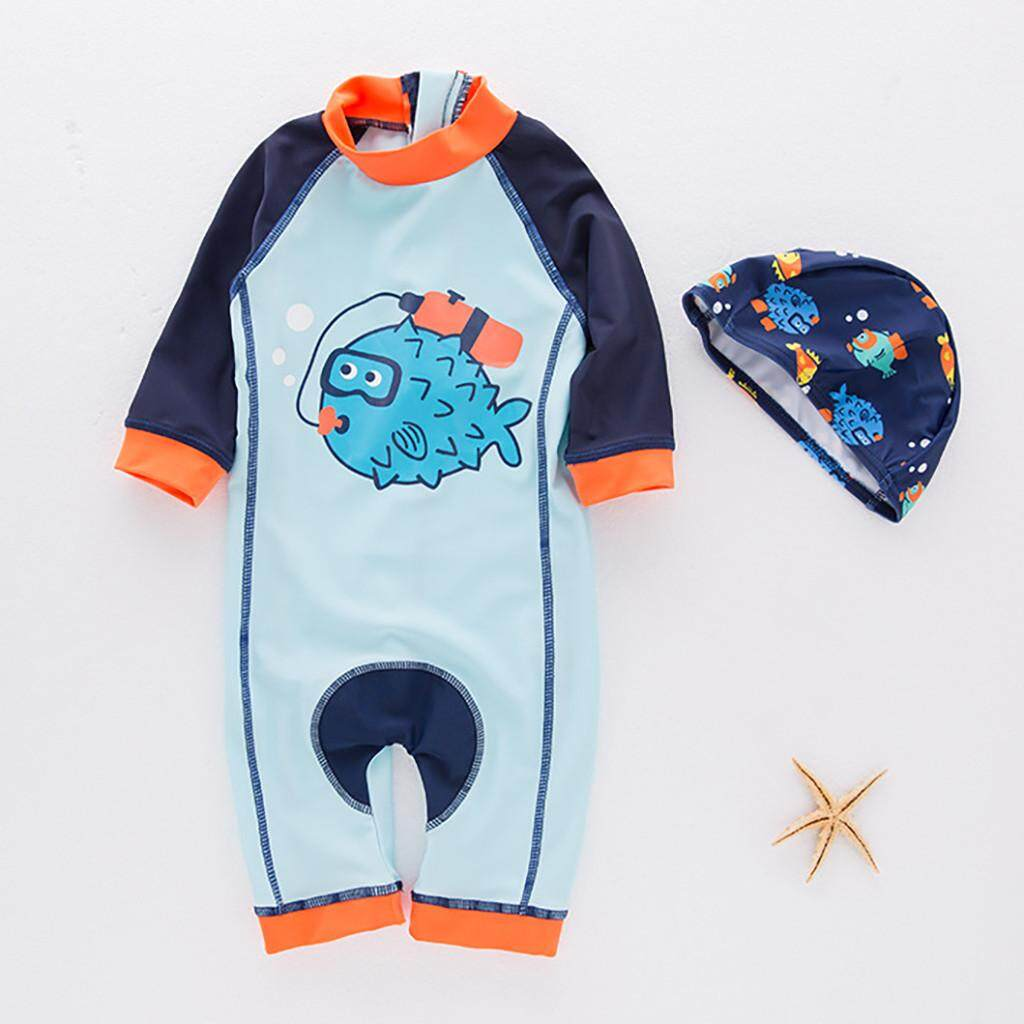 75a50ff37310 Topshowvie Boy's Jumpsuit Pufferfish Children's Swimsuit Hot Spring Clothes  Male Suit
