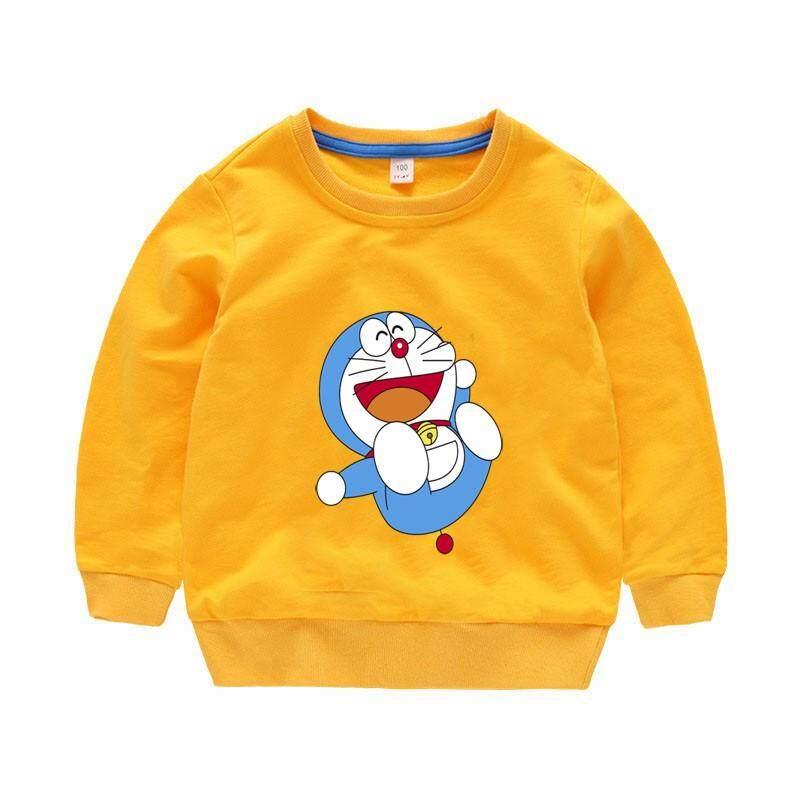 Doraemon Kids Cute Cotton Sweater shirts Long Sleeve Sweatshirts Boys Cartoon Clothing Girls Casual Tops Style84