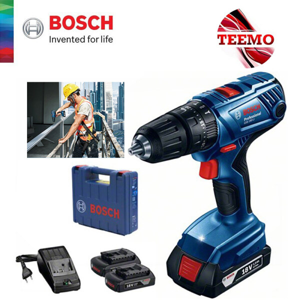 TEEMO BOSCH GSB 180-LI Professional Cordless Impact Drill (With 2 Batteries + 1 Charger) - 06019F83L0 - Fulfilled by TEEMO SHOP